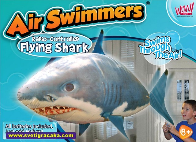 Air Swimmers Flying Shark - box - WOW