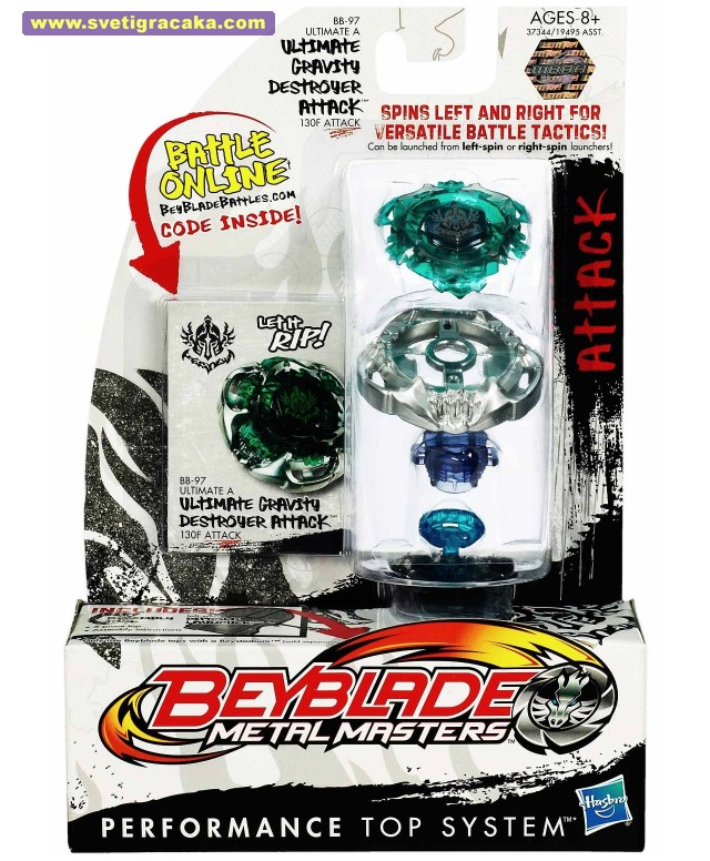 Beyblade Metal Masters - BB-97 - ULTIMATE A - ULTIMATE GRAVITY DESTROYER ATTACK - 130F ATTACK