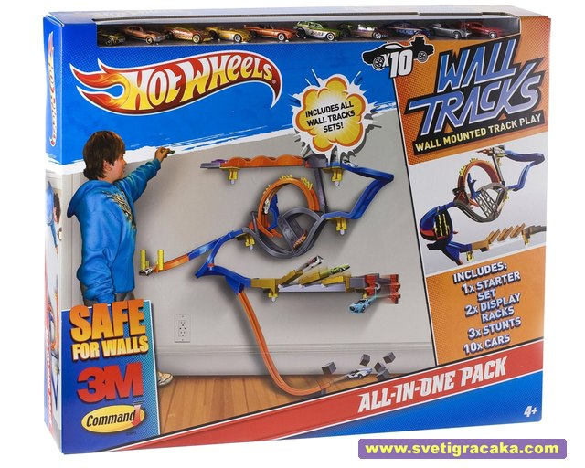 Hot Wheels Wall Tracks - ALL-IN-ONE PACK - box