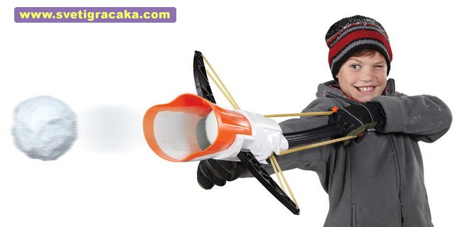 Wham-O - Arctic Force - Snow Crossbow - kid firing snowball